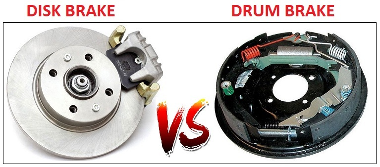 differents between Drum brakes and Disk Brakes