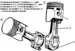 Шатун поршень – Сборка и установка шатунно-поршневой группы на двигатель