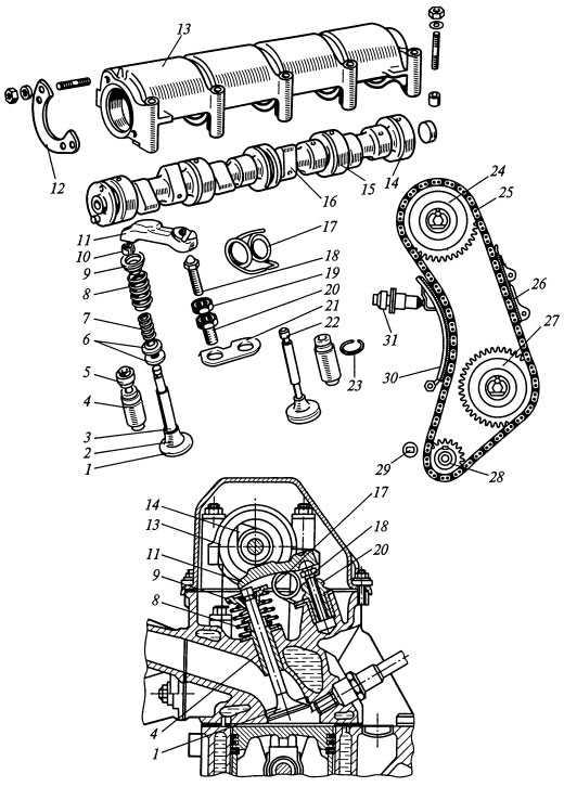 картинки механизма грм скелет включает